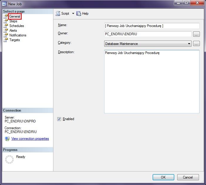 Programowanie SQL Bazy Danych Mechanizmy Automatyczne Server Agent JOB